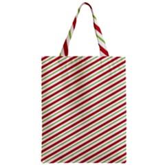 Stripes Striped Design Pattern Zipper Classic Tote Bag