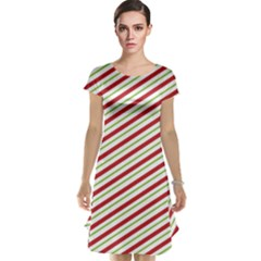 Stripes Striped Design Pattern Cap Sleeve Nightdress
