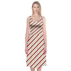 Stripes Striped Design Pattern Midi Sleeveless Dress