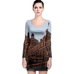 Store Harrods London Long Sleeve Bodycon Dress
