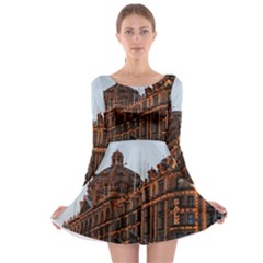 Store Harrods London Long Sleeve Skater Dress