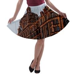 Store Harrods London A-line Skater Skirt