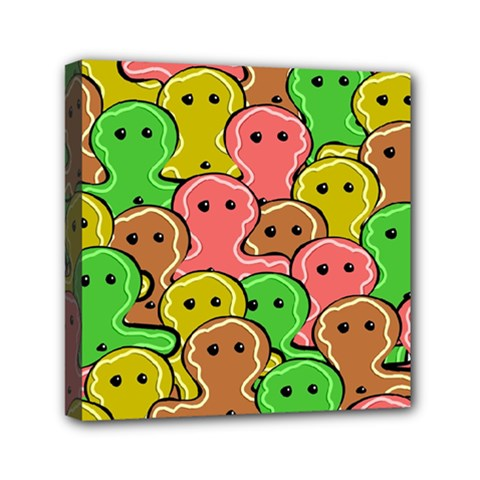 Sweet Dessert Food Gingerbread Men Mini Canvas 6  X 6