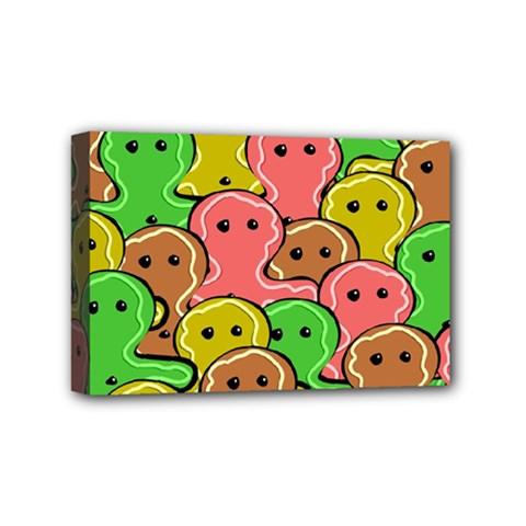 Sweet Dessert Food Gingerbread Men Mini Canvas 6  x 4