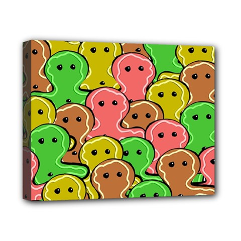 Sweet Dessert Food Gingerbread Men Canvas 10  x 8