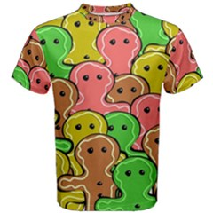 Sweet Dessert Food Gingerbread Men Men s Cotton Tee