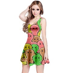 Sweet Dessert Food Gingerbread Men Reversible Sleeveless Dress