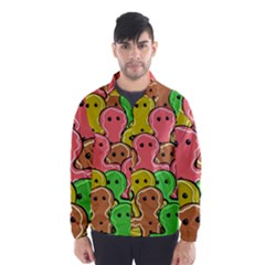 Sweet Dessert Food Gingerbread Men Wind Breaker (men)