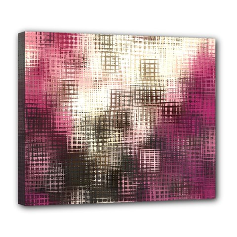Stylized Rose Pattern Paper, Cream And Black Deluxe Canvas 24  X 20