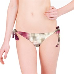 Stylized Rose Pattern Paper, Cream And Black Bikini Bottom