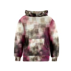 Stylized Rose Pattern Paper, Cream And Black Kids  Pullover Hoodie
