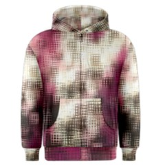 Stylized Rose Pattern Paper, Cream And Black Men s Zipper Hoodie