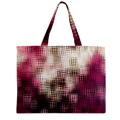 Stylized Rose Pattern Paper, Cream And Black Zipper Mini Tote Bag
