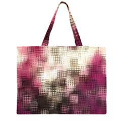 Stylized Rose Pattern Paper, Cream And Black Large Tote Bag