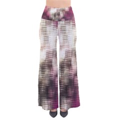 Stylized Rose Pattern Paper, Cream And Black Pants