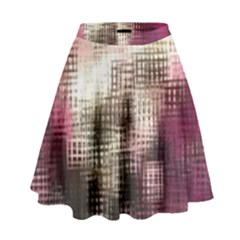 Stylized Rose Pattern Paper, Cream And Black High Waist Skirt