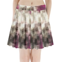Stylized Rose Pattern Paper, Cream And Black Pleated Mini Skirt