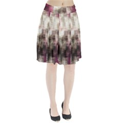 Stylized Rose Pattern Paper, Cream And Black Pleated Skirt