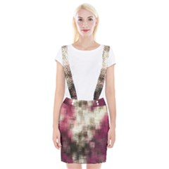 Stylized Rose Pattern Paper, Cream And Black Suspender Skirt