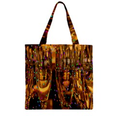 Sylvester New Year S Eve Zipper Grocery Tote Bag