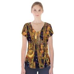 Sylvester New Year S Eve Short Sleeve Front Detail Top