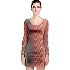 Texture Digital Painting Digital Art Long Sleeve Bodycon Dress