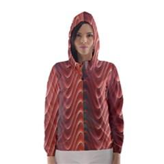 Texture Digital Painting Digital Art Hooded Wind Breaker (women)