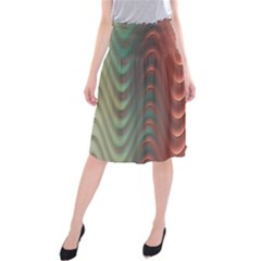 Texture Digital Painting Digital Art Midi Beach Skirt