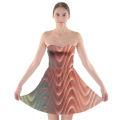 Texture Digital Painting Digital Art Strapless Bra Top Dress