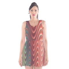 Texture Digital Painting Digital Art Scoop Neck Skater Dress