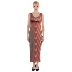 Texture Digital Painting Digital Art Fitted Maxi Dress