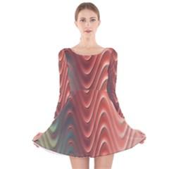 Texture Digital Painting Digital Art Long Sleeve Velvet Skater Dress