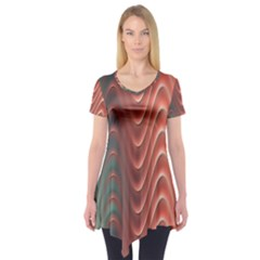 Texture Digital Painting Digital Art Short Sleeve Tunic