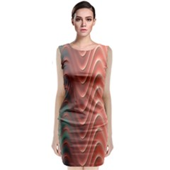 Texture Digital Painting Digital Art Classic Sleeveless Midi Dress