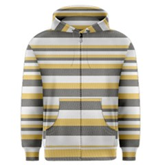 Textile Design Knit Tan White Men s Zipper Hoodie
