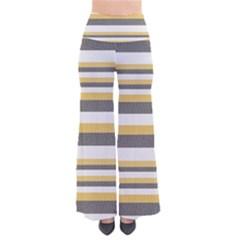 Textile Design Knit Tan White Pants