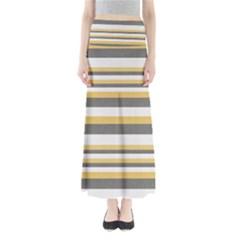 Textile Design Knit Tan White Maxi Skirts