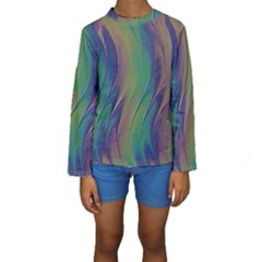 Texture Abstract Background Kids  Long Sleeve Swimwear