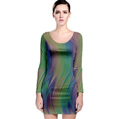 Texture Abstract Background Long Sleeve Bodycon Dress