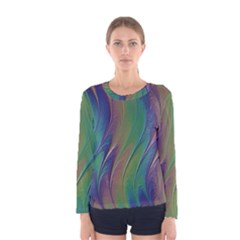 Texture Abstract Background Women s Long Sleeve Tee