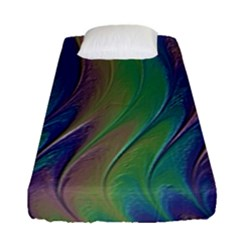 Texture Abstract Background Fitted Sheet (single Size)