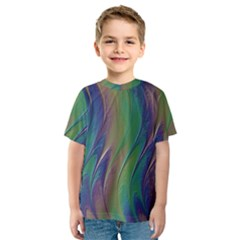 Texture Abstract Background Kids  Sport Mesh Tee