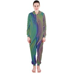 Texture Abstract Background Hooded Jumpsuit (Ladies)