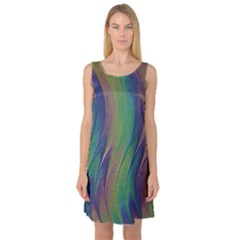 Texture Abstract Background Sleeveless Satin Nightdress