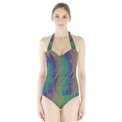 Texture Abstract Background Halter Swimsuit