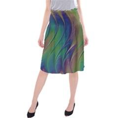 Texture Abstract Background Midi Beach Skirt