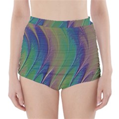 Texture Abstract Background High Waisted Bikini Bottoms