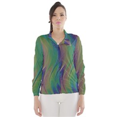Texture Abstract Background Wind Breaker (Women)