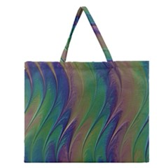 Texture Abstract Background Zipper Large Tote Bag
