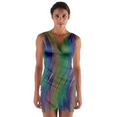 Texture Abstract Background Wrap Front Bodycon Dress